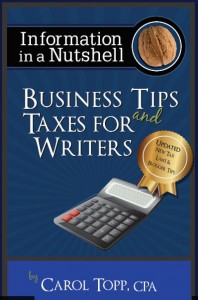 Business Tips and Taxes for Writers Update 2018